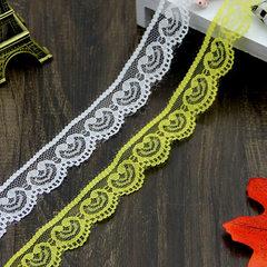 15色现货2.5cm宽蕾丝花边 防晒衣头饰桌布装饰蕾丝花边辅料 桔色 2.5cm