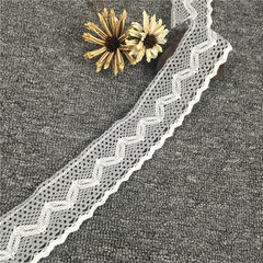 High quality cotton thread, woven lace, wide edge, three colors can be selected for home tablecloth, gray m