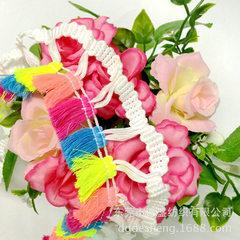 Tassel lace ribbon color four flowers tassel tassel broomstick lace three colors broomstick lace rib color