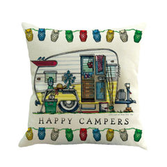 Wish amazon customized camper flax pillow pillow pillowcase office sofa cushion 1 45 * 45 cm excluding core
