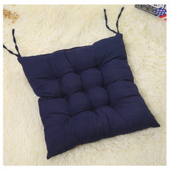 Candy color elastic cold protection warm and thickened worsted chair cushion for office home couch c navy 41 * 41 cm