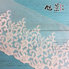 Curtain accessories lace dress accessories high quality cotton mesh embroidery lace white