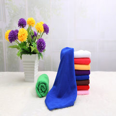 Super fine fiber towel household cleaning and hairdressing gas station store supermarket gift towel  Sapphire blue 30 * 60