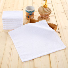 Hotel hotel disposable white towel towels aircraft towel towels kindergarten towels White 35g three-pin five-thread lace 30 * 30