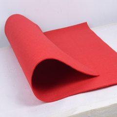 置物袋  毛毡汽车椅背收纳袋挂袋车载收纳箱储物箱椅背袋 红色 40*65cm