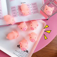Cartoon soft cute pink piggy toys give vent to the Pink piglet