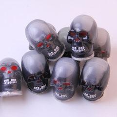 整蛊玩具 沙皮胶 新奇特骷髅头 整人吓人道具 特价 厂家直销 黑色骷髅头