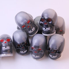 Gu gu toy sand rubber new unique skull head scary  Black skull