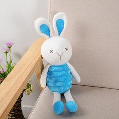 弹簧兔抓机娃娃兔子毛绒玩具婚礼礼品 婚庆抛洒公仔小布娃娃批发 蓝 20cm
