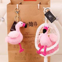 可爱小鸟毛绒玩具挂件钥匙扣女包包挂饰公仔韩国创意可爱书包挂 仙鹤 13cm