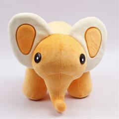 佛山填充毛绒玩具厂定做长鼻子大象公仔卡通小象来图来样生产订做 橙 15cm