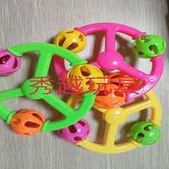 新品婴儿摇铃益智安抚抓握婴儿玩具0-3岁手摇铃玩具厂家批发 黄