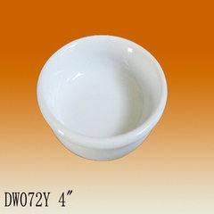厂家直销白瓷碗 定制多颜色高温陶瓷宠物碗 宠物陶瓷碗可加工LOGO 白色