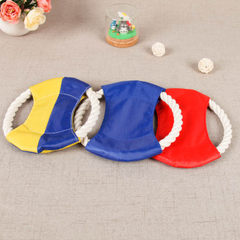EBay hot style pet cotton rope frisbee toy weaving 18cm 80g can provide hanging tag +0.12 yuan