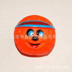 搪胶宠物玩具 卡通球  7.3*6.7CM 无毒环保 6.7*7.3CM