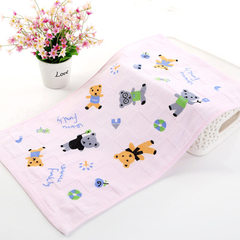 Cotton gauze double layer printed baby towel kinde The pink pattern is random 25 * 50