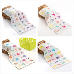 Pure cotton three-layer gauze children`s towel who White mix 27 * 50