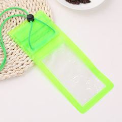 Solid color mobile phone waterproof bag floating s yellow All code