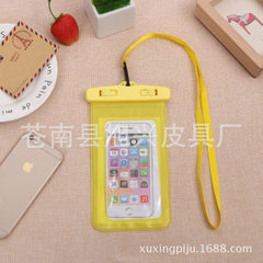 Floating mobile phone waterproof bag apple 6pius s yellow All code