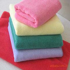 供应100%超细纤维纬编格毛巾面巾方巾 多选 35*35CM