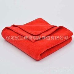 厂家直销干发巾400克30*60素色超细纤维毛巾吸水巾劳保擦车巾 红色 30*60