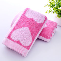 Towel manufacturer wholesale advertising labor ins 80 grams of big peach heart pink 71 * 31