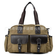 High - end handbag men`s canvas handbag, messenger