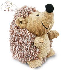 熊房子 宠物用品批发狗狗玩具 跨境热销毛绒玩具宠物发声 小刺猬 浅黄小刺猬