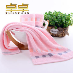 Manufacturers promote cotton gingham towels comfor pink 32 * 74