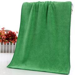400克35*75超细纤维毛巾高阳厂家直销礼品促销擦车巾发廊美容巾 绿色 35*75cm