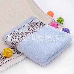 厂家直销批发纯棉毛巾可定制LOGO礼品广告福利劳保促销青花瓷面巾 蓝色 34*74cm±2