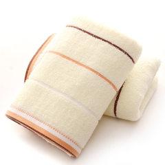 高阳厂家直销批发 福利劳保超市礼品促销回礼纯棉毛巾 定制LOGO 米白色 34*74