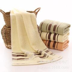 断档毛巾 厂家直销纯棉面巾柔软吸水可LOGO节日回礼公司劳保 乳黄色 33*74CM