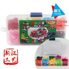 微型钻石小颗粒积木 早教启蒙 多色拼装串联塑料益智玩具  200装 200颗彩色装