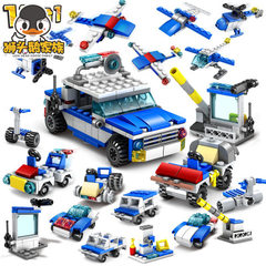 Urban police building blocks 67251 children`s gift A set of 16 boxes, please take a multiple of 16