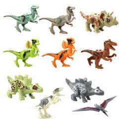 跨境朱罗记恐龙小颗粒积木拼装DIY某高式恐龙拼插积木10款批发