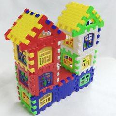儿童益智启蒙 方块塑料拼插积木 房子组拼装幼儿园早教玩具363 一袋24片