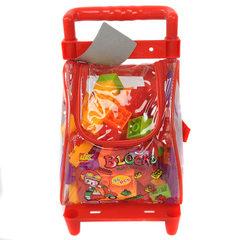 儿童塑料拼插积木 手拉车行李包装宝宝早教益智力拼搭96PCS小号