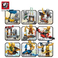 幻影忍者人仔黄金骑士团 兼容某高儿童益智拼装拼插积木礼品玩具 68125A