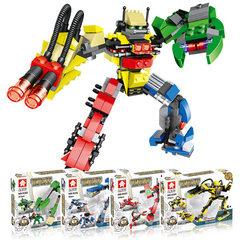 乐毅高益智 小颗粒积木 三变拼插百变兽王机器人儿童益智玩具 9101雷神战狼