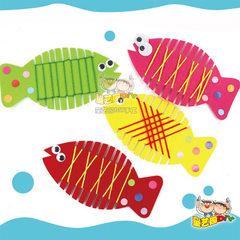 绕线鱼游戏幼儿园手工diy儿童玩具制作材料包益智创意礼物批发