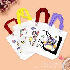 DIY环保袋涂鸦包 幼儿手工制作水彩画 幼儿园DIY手工环保益智材料 Z款1-12号