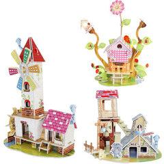 儿童3D立体拼图纸质 益智玩具diy建筑小屋 幼儿园手工厂家批发 689-A:和谐家园