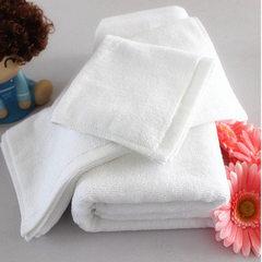 毛巾厂家直销现货供应100g纯棉白色宾馆专用高档洗浴毛巾 白色 35*70/100克