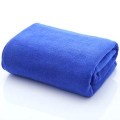 厂家直销批发超细纤维素色浴巾350g 70*140柔软擦车巾干发吸水巾 宝蓝 70*140