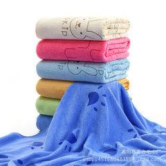 毛巾厂家批发超细纤维浴巾70*140卡通印花吸水沙滩大浴巾一件代发 颜色图案混搭 70x140