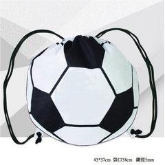 抽绳背包双肩包学生运动男足球包健身包训练包束口收纳袋定制批发 黑色
