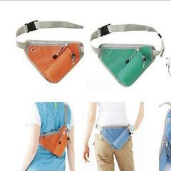 户外多功能水壶腰包 夏季旅行骑行登山运动 数码收纳包 绿色
