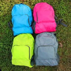 厂家旅行折叠背包 韩版超轻透气皮肤包 户外运动可折叠双肩背包 绿色