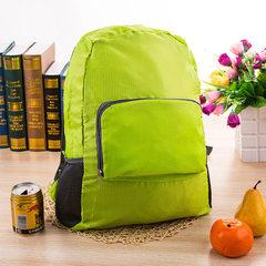 新款折叠尼龙防水皮肤包双肩背包户外运动旅行书包定制 厂家直销 绿色